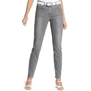 NWT Womens Jeans Plus 18 Gray Silver (T1071)